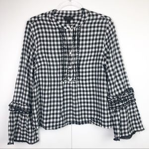 J.Crew Checkered Top